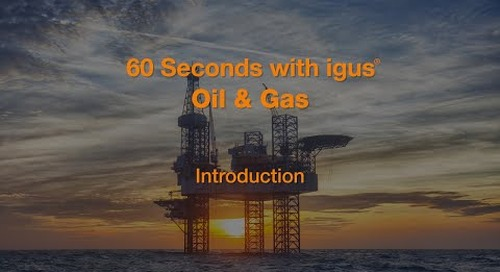 60 seconds with igus® - Oil & Gas - Introduction