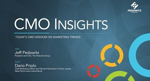 CMO Insights: Dario Priolo, Chief Marketing Officer, Sales Performance International