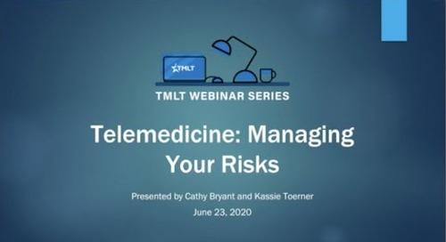 Telemedicine: Managing risks
