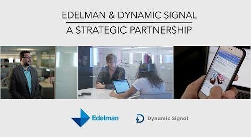 Edelman & Dynamic Signal  - A Strategic Partnership