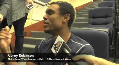 Notre Dame WR Corey Robinson - 10/1/14 - Stanford