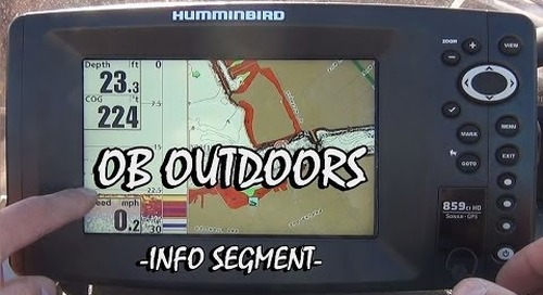 Humminbird 859ci HD Explained - OB Outdoors Info Segment
