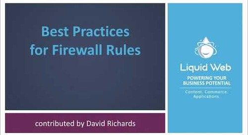 Best Practices for Firewall Rules