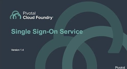 Single Sign-On Service 1.4 Demo for Pivotal Cloud Foundry