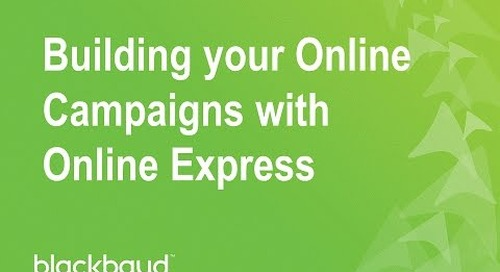 Building your Online Campaigns with Online Express