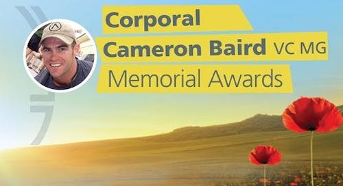 Corporal Cameron Baird 2019 Awards
