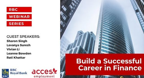 RBC Royal Bank Webinar: Build a Successful Career in Finance at Canada's Largest Bank