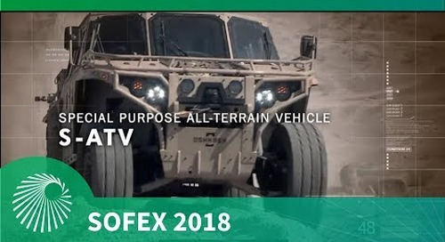 SOFEX 2018: Oshkosh Defense S-ATV combat vehicle