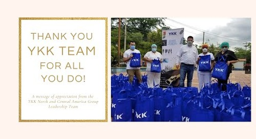 Thank you YKK Team for all you do!