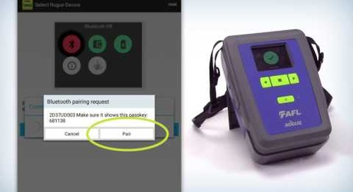 Rogue Modular Test Device: How to pair tablets to Rogue®
