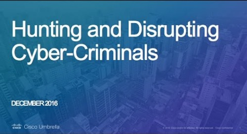 Hunting & Disrupting Cyber-Criminals