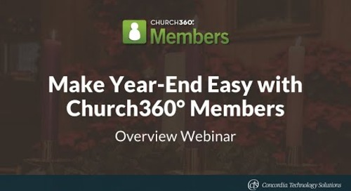 Make Year End Easy with Church360° Members