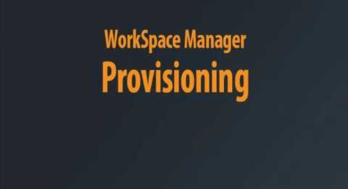 WorkSpace Manager - Provisioning Chaptered