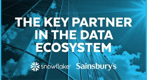 Sainsbury's PLC - Snowflake is a Key Partner in the Data Ecosystem