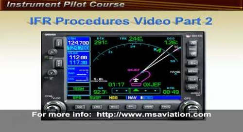 Garmin 530 IFR Lesson
