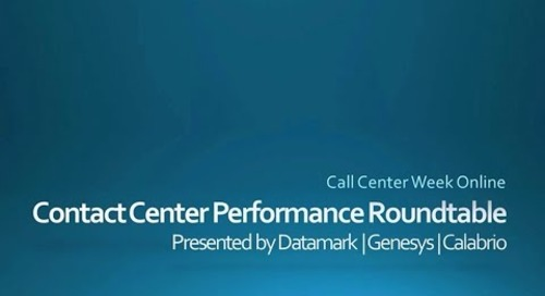 """Call Center Week Roundtable Discussion: """"More Than Metrics"""""""