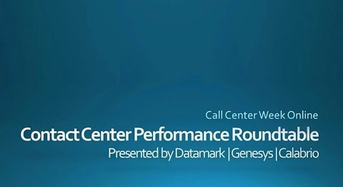 "Call Center Week Roundtable Discussion: ""More Than Metrics"""