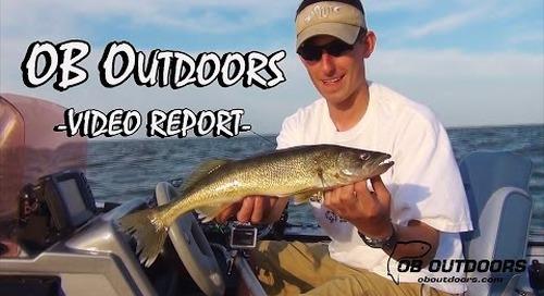 Lake Winnebago Walleye Trolling - OB Outdoors Video Report: 08-07-14