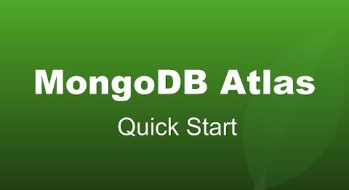 Getting Your Free MongoDB Atlas Cluster