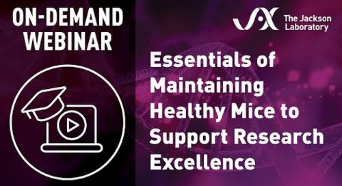 Essentials of Maintaining Healthy Mice to Support Research Excellence