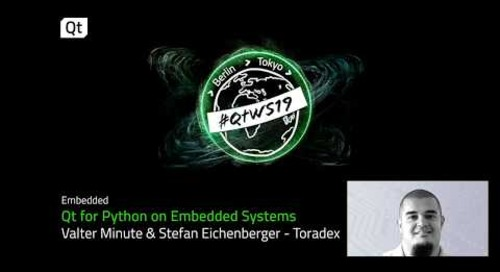 Using Qt for Python for embedded system development