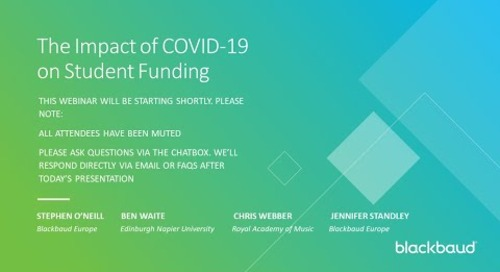 The Impact of COVID-19 on Student Funding