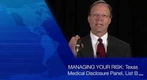 Texas Medical Disclosure Panel: List B