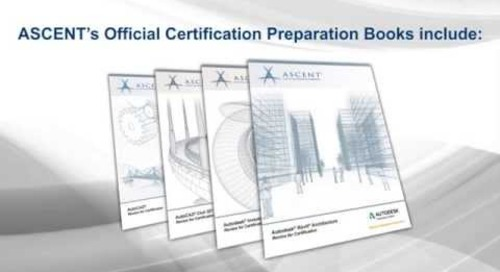 Autodesk Certification Preparation Books from ASCENT