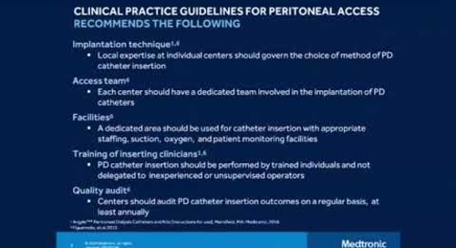 Peritoneal Dialysis Percutaneous Insertion Techniques, Urgent Start and Acute PD - Chapter 2