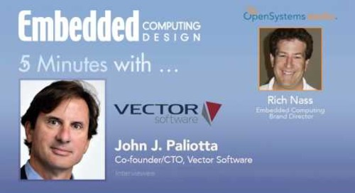 Five Minutes With…John J. Paliotta, Co-founder/CTO, Vector Software