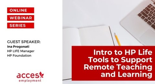 Intro to HP LIFE: Tools to support remote teaching and learning during COVID-19