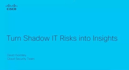 Turn Shadow IT Risks into Insights