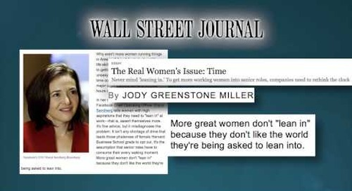 Jody Greenstone Miller, Media Highlights