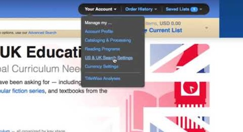 UK Search Settings & Currency Selection