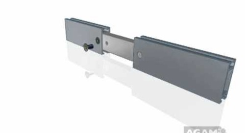 AGAM In-Line Connector 645 104 using Extrusion PH1005