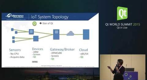 QtWS15- Qt in IoT context  - connected alarm clock, Adrien Leravat, Adeneo Embedded