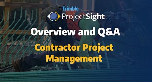 ProjectSight Product Overview and Q&A