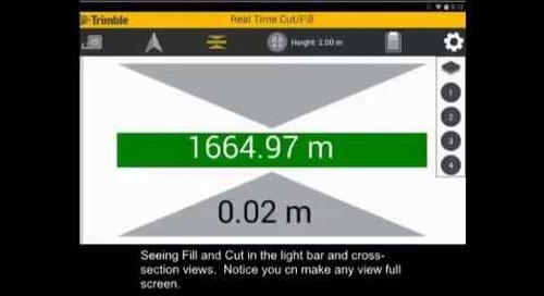 Trimble SitePulse - Using Real-time Cut and Fill