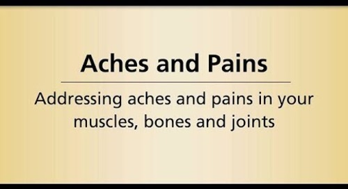 Beyond Cancer Treatment - Aches Pains