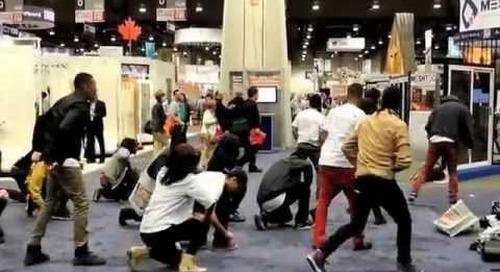 Flash mob-Icynene at IBS 2013