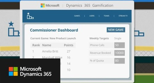 Find more opportunities and boost sales with Microsoft Dynamics 365 - Gamification