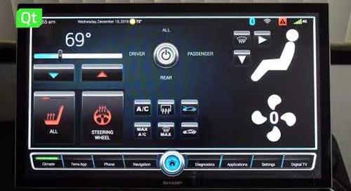 Qt-built and Alexa-Powered Automotive IVI Demo by ICS