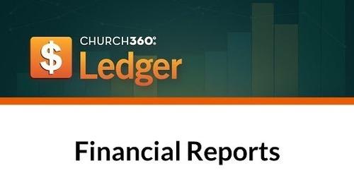 Church360° Ledger - Financial Reports