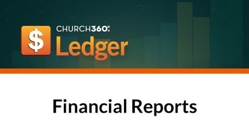 Church360° Ledger - Financial Reports