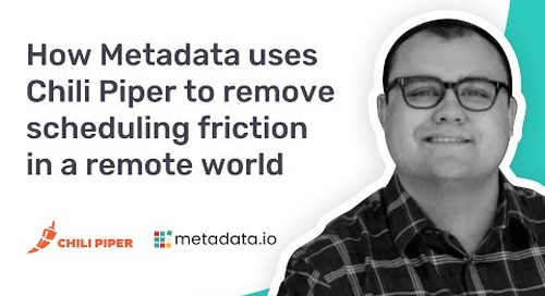 How Metadata.io Uses Chili Piper to Remove Scheduling Friction