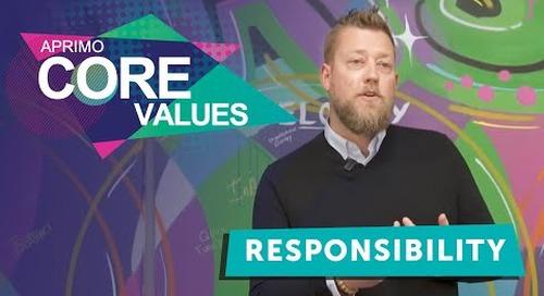 Aprimo's Core Values - Responsibility