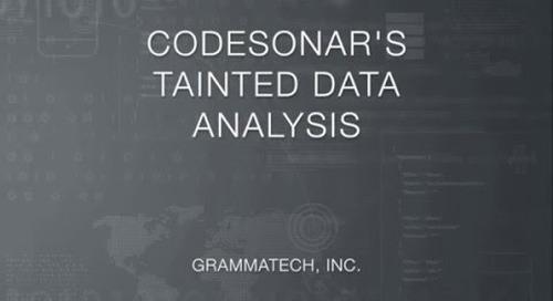 CodeSonar's Visual Tainted Data Analysis