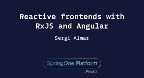 Reactive Frontends with RxJS and Angular - Sergi Almar