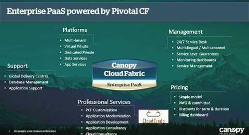 Canopy - Enterprise-Ready Pivotal Cloud Foundry - Making The Cool Super Cool (Cloud Foundry Summit 2014)