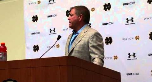 Oct. 14, 2014: Brian Kelly previews Florida State